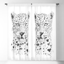 Lovely leopard Blackout Curtain