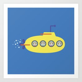 The Beagles - Yellow Submarine Art Print