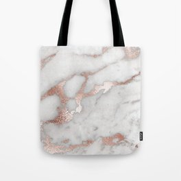 Rose Gold Marble Tote Bag