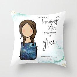 A Signal Fire of Grace Throw Pillow