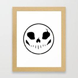 Bones button Framed Art Print