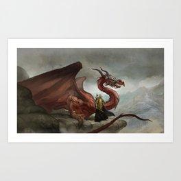 Dragon King Art Print