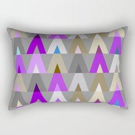 Deer Head Geometric Triangles   purple grey Rectangular Pillow