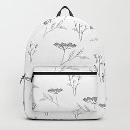 Minimal flowers Backpack