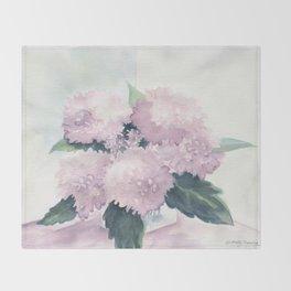 Hydrangea 2 Throw Blanket