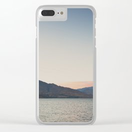 sunset over the lake ... Clear iPhone Case
