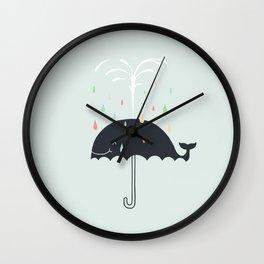 Happy Rainy Day Wall Clock