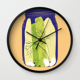 PICKLES poster Wall Clock