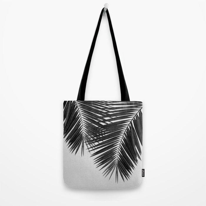 Palm Leaf Black & White II Tote Bag