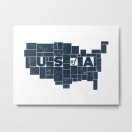 U S of A Metal Print