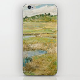 Childe Hassam - The Concord Meadow, 1891 iPhone Skin