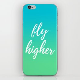 Fly Higher - Blue Green Ombre iPhone Skin