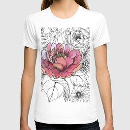 Painted Peony Garden T-shirt