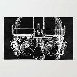 Welding Goggles Blueprint Rug