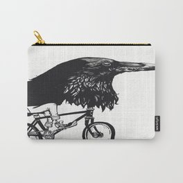Black Bird Riding Carry-All Pouch