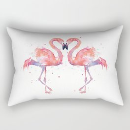 Pink Flamingo Love Two Flamingos Rectangular Pillow