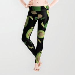 Avocado gen z fashion apparel food fight gifts black Leggings