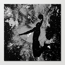 SLAM DUNK IN BLACK AND WHITE Canvas Print