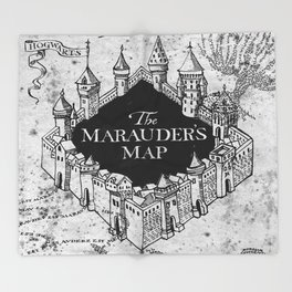 Marauders Map Throw Blanket