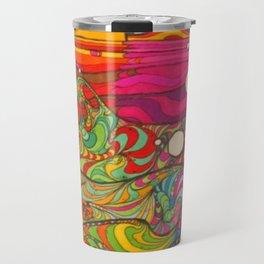 Psychedelic Art Travel Mug