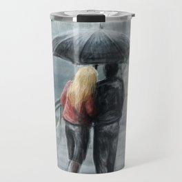 Rainy Walk Travel Mug