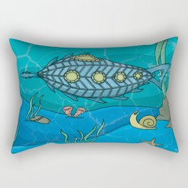 Nautilus under the sea Rectangular Pillow