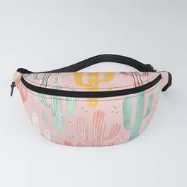 Long Multicolored Cacti Fanny Pack