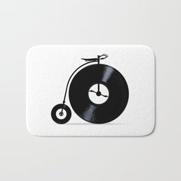 Penny Farthing With Vinyl Records Bath Mat