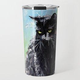 My little cat - kitty - animal - by LiliFlore Travel Mug