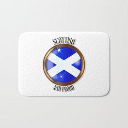 Scottish Proud Flag Button Bath Mat