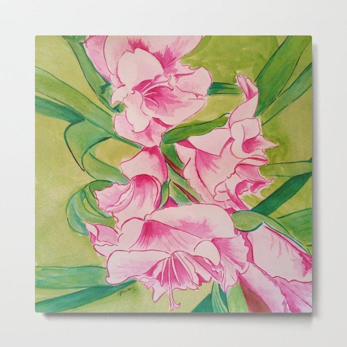 Her Mother's Gladiolus Metal Print