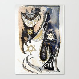 Sleepy Starbird Canvas Print