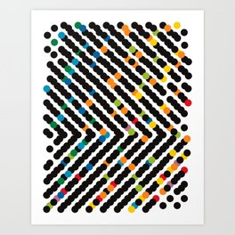 ARROW - dots Art Print