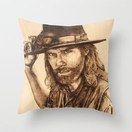 Hell on Wheels Inspired, Mr. Bohannon Throw Pillow