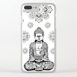 Buddha,HOME DECOR, 2,Graphic Design,Home Decor,iPhone skin,iPhone case,Laptop sleeve,Pillows,Bed,Art Clear iPhone Case