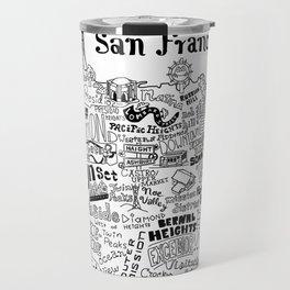 San Francisco Map Illustration Travel Mug