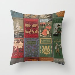 The Golden Age of Book Design Throw Pillow