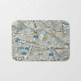 Illustrated map of Berlin-Mitte. Green Bath Mat