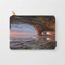 Sea Cave Sunset on Lake Superior Carry-All Pouch