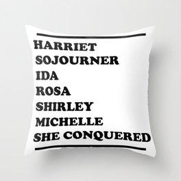 honoring black women Throw Pillow
