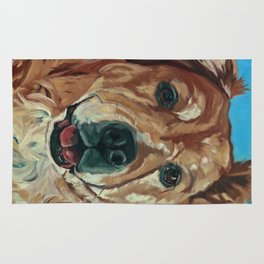 Cody the Golden Labrador Mix Dog Portrait Rug