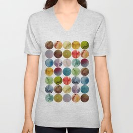 Paint pattern Unisex V-Neck
