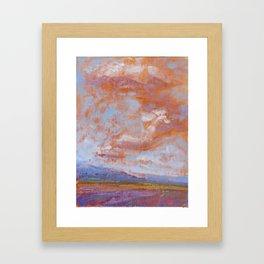 Sky of Provence Framed Art Print