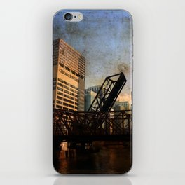 Chicago Skyline Chicago River Drawbridge iPhone Skin