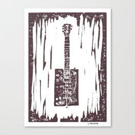 Bo Diddley's Cigar Box Guitar Linocut Print Canvas Print