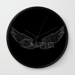 Castiel with Wings Black Wall Clock