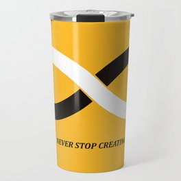 Never stop creating (the infinity pencil) Travel Mug