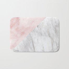 Marchionne Bianco & Silvec Rosa marble soft pink Bath Mat