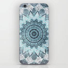 BOHOCHIC MANDALA IN BLUE iPhone Skin