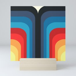 Retro Rainbow 01 Mini Art Print